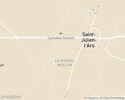 Localisation La Maison de la Forêt des Charmes - Foyer d'Accueil Médicalisé et Maison d'Accueil Spécialisée - 86800 - Saint-Julien-l'Ars