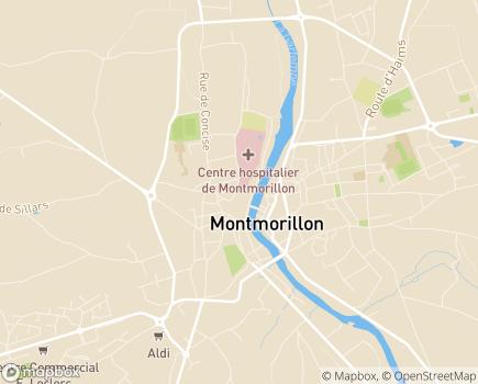 Localisation EHPAD du Centre Hospitalier de Montmorillon - 86500 - Montmorillon