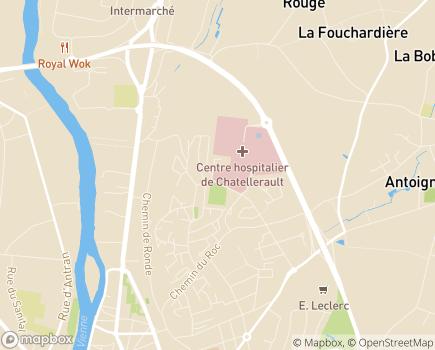 Localisation USLD Maison Médicale - 86100 - Châtellerault