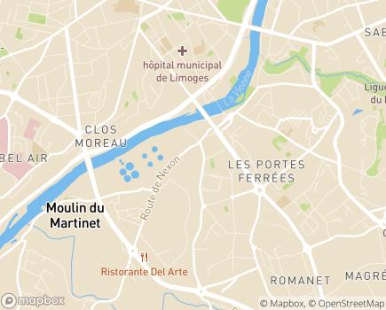Localisation Association Soins et Santé - 87000 - Limoges