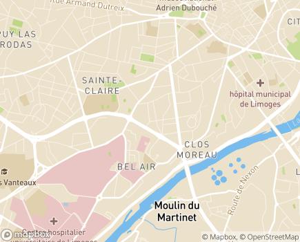 Localisation EHPAD Résidence Saint-Martial - 87039 - Limoges