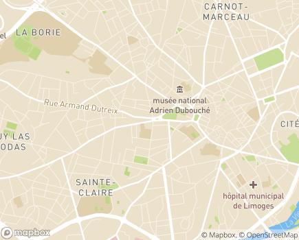 Localisation SADPAH - Service d'Aide à Domicile aux Personnes Agées et/ou handicapées - 87000 - Limoges
