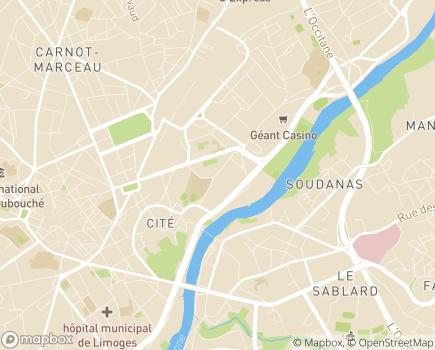 Localisation ARS Délégation Départementale de la Haute-Vienne - 87031 - Limoges