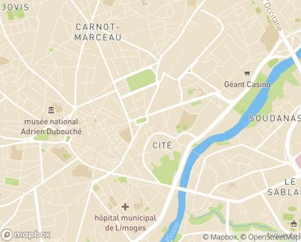Localisation AESAD - Association des Entreprises des Services A Domicile - 87000 - Limoges