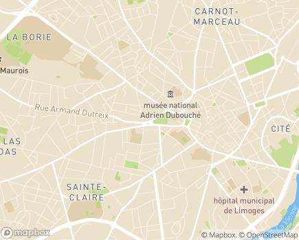 Localisation APEF Services - 87000 - Limoges