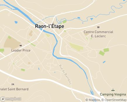 Localisation Service de Soins de Suite et de Réadaptation - 88110 - Raon-l'Étape