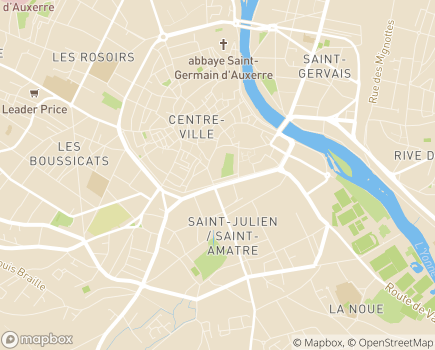 Localisation ARS Délégation Départementale de l'Yonne - 89000 - Auxerre