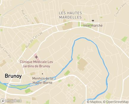 Localisation CLINEA - Clinique Les Vallées - 91800 - Brunoy