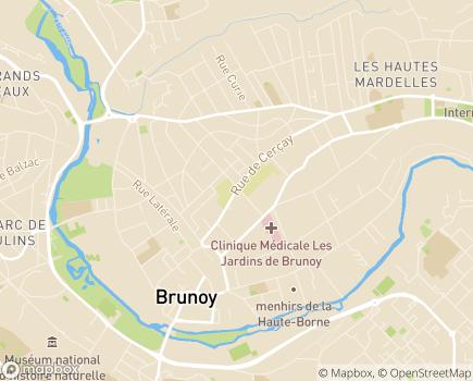 Localisation Foyer d'Hébergement Chavy - 91800 - Brunoy