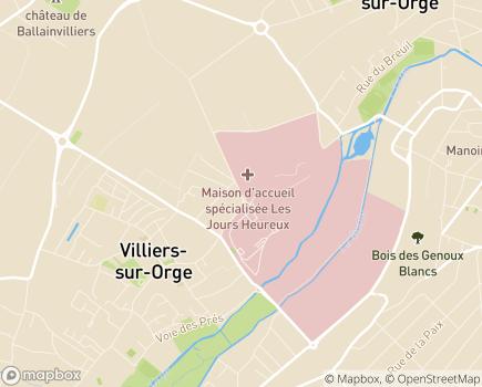 Localisation Maison d'Accueil Spécialisée Les Jours Heureux - 91360 - Épinay-sur-Orge
