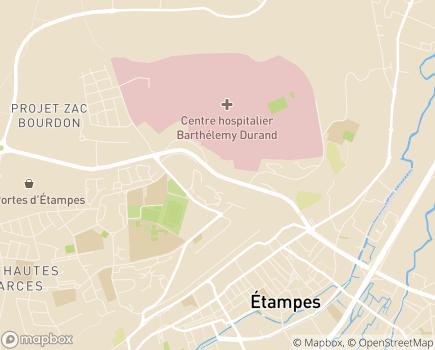 Localisation Établissement public de santé Barthélemy Durand - 91152 - Étampes