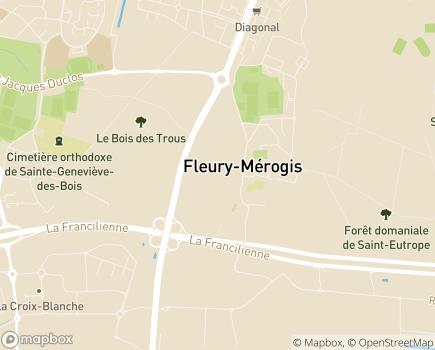 Localisation Centre Hospitalier Manhès - 91700 - Fleury-Mérogis