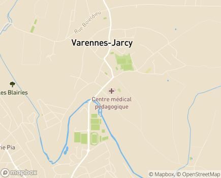 Localisation Centre Médical et Pédagogique de Varennes Jarcy - 91480 - Varennes-Jarcy