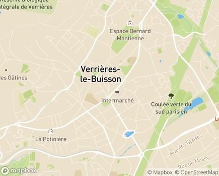 Localisation Foyer d'Hébergement Les Aulnaies - 91370 - Verrières-le-Buisson