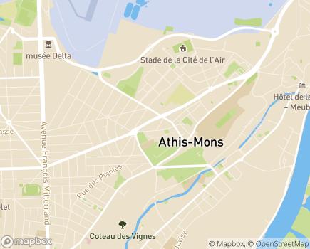 Localisation Ateliers des Guyards Etablissement et Services d'Aide par le Travail (ESAT-CFBS) - 91201 - Athis-Mons