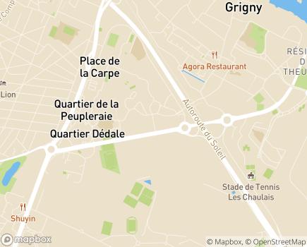 Localisation Association Abej Coquerel - 91350 - Grigny