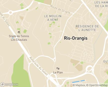 Localisation AMAD - Association de Maintien et d'Aides à Domicile - 91131 - Ris-Orangis