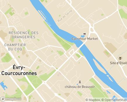 Localisation ASAMD - Association de Soins et d'Aide au Maintien à Domicile - 91000 - Évry-Courcouronnes