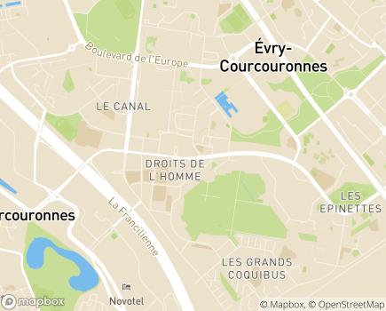 Localisation Service Social de l'Enfance - 91026 - Évry-Courcouronnes
