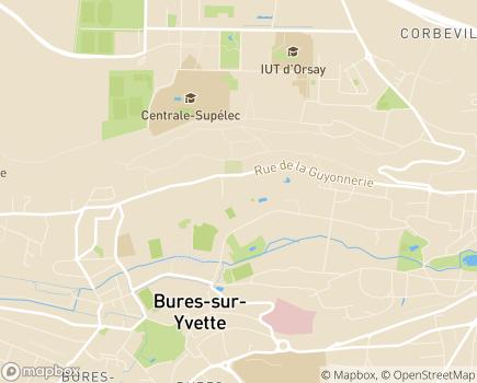 Localisation Korian Côteaux de L'Yvette - 91440 - Bures-sur-Yvette