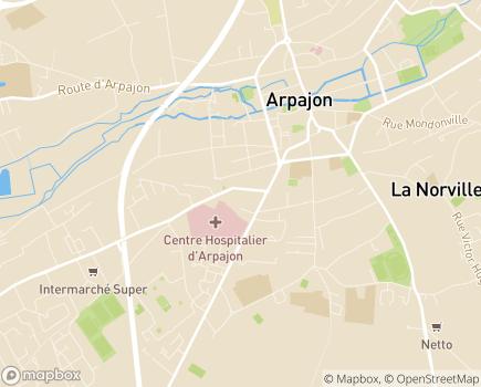 Localisation ESAT Les Ateliers du Vieux Châtres, antenne Arpajon - 91290 - Arpajon