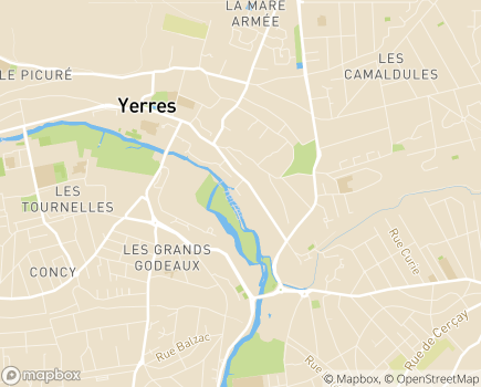 Localisation Hôpital Privé du Val d'Yerres (Almaviva Santé) - 91330 - Yerres