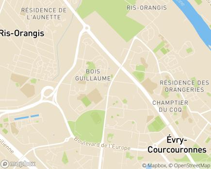Localisation Hôpital Privé d'Evry (Almaviva Santé) - 91024 - Évry-Courcouronnes