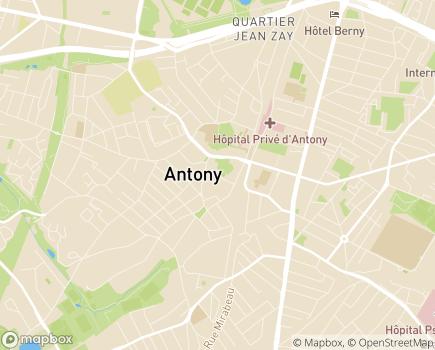 Localisation Centre Communal d'Action Sociale de la Ville d'Antony - 92160 - Antony