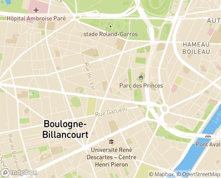 Localisation Centre Chirurgical des Princes - 92100 - Boulogne-Billancourt
