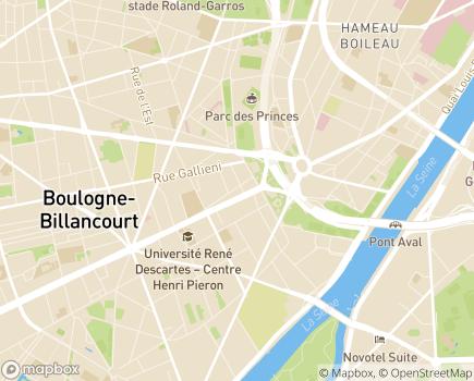 Localisation CAJ Jean-Claude Richard - 92100 - Boulogne-Billancourt