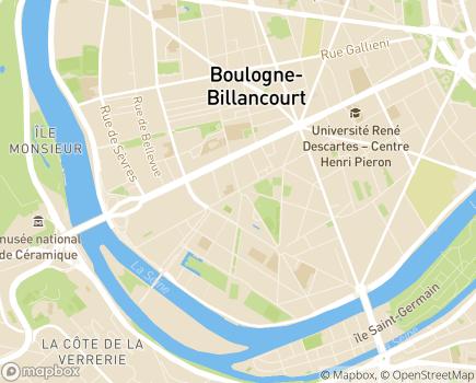 Localisation Résidence Soleil - 92100 - Boulogne-Billancourt