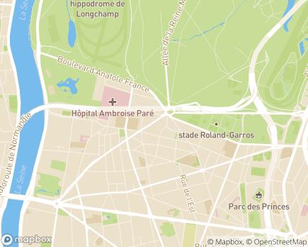 Localisation EHPAD Résidence Sainte-Agnès - 92100 - Boulogne-Billancourt