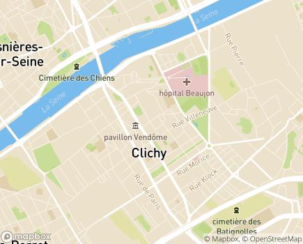 Localisation Foyer d'Accueil Médicalisé Les Roseaux - 92110 - Clichy