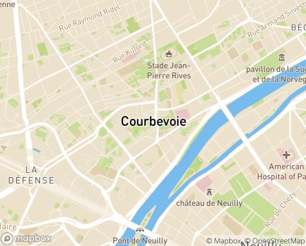 Localisation Centre Communal d'Action Sociale - 92400 - Courbevoie