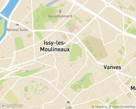Localisation Hôpital Suisse de Paris - 92130 - Issy-les-Moulineaux