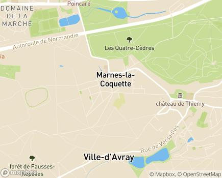 Localisation ESAT Les Ateliers de La Gentilhommière - 92430 - Marnes-la-Coquette