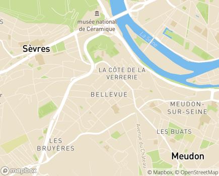 Localisation Maison de Santé de Bellevue - 92190 - Meudon