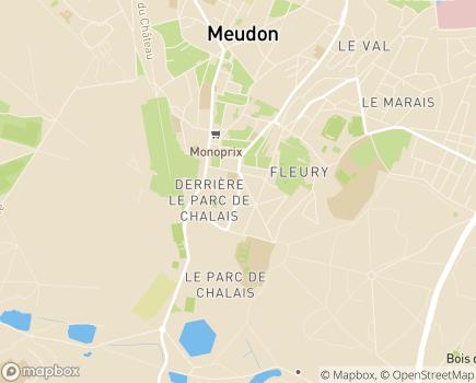 Localisation ESAT d'Alembert - 92190 - Meudon