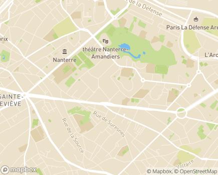Localisation ARS Île-de-France Délégation départementale des Hauts-de-Seine - 92012 - Nanterre