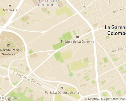 Localisation ESAT Les Ateliers du Phare - 92000 - Nanterre