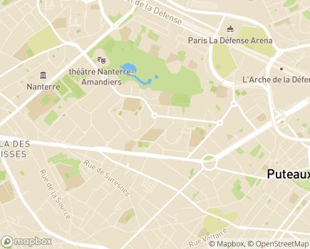 Localisation Foyer d'Hébergement Paulette-Faveris - 92000 - Nanterre
