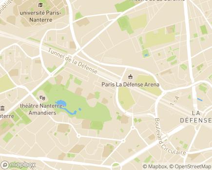 Localisation Caisse Primaire d'Assurance Maladie - 92026 - Nanterre