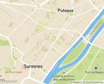 Localisation Hôpital de Jour, Centre Jean Wier - 92150 - Suresnes