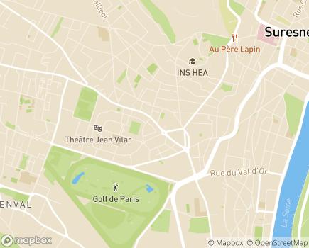 Localisation ESAT Les Ateliers Cité Jardins - 92150 - Suresnes