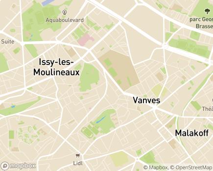 Localisation Cité Le Rosier Rouge - 92170 - Vanves