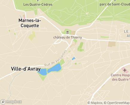 Localisation EHPAD La Villa des Sources - 92410 - Ville-d'Avray