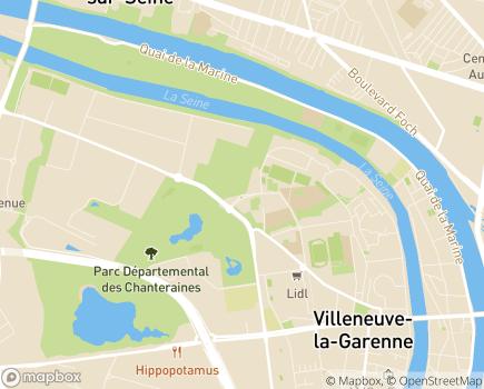 Localisation Etablissement et Service d'Aide par le Travail Les Ateliers Foyer Villeno Garennois - 92390 - Villeneuve-la-Garenne