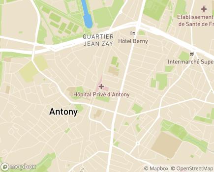 Localisation Foyer d'Hébergement Résidence et Foyer Eclaté APAJH - 92160 - Antony