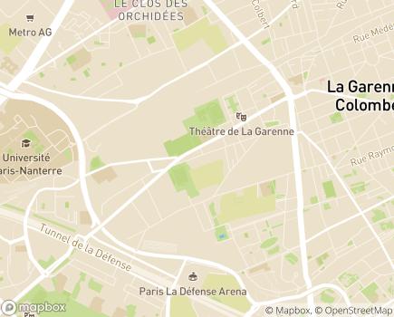 Localisation ESAT Les Ateliers de la Garenne - 92000 - Nanterre