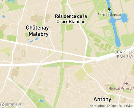 Localisation Clinique L'Amandier - 92290 - Châtenay-Malabry